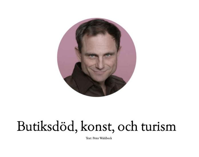 Butiksdöd konst och turism i Halmstad