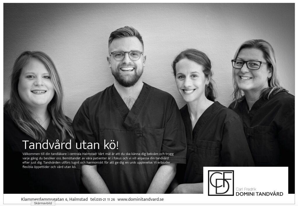 Domini tandvård i Halmstad.