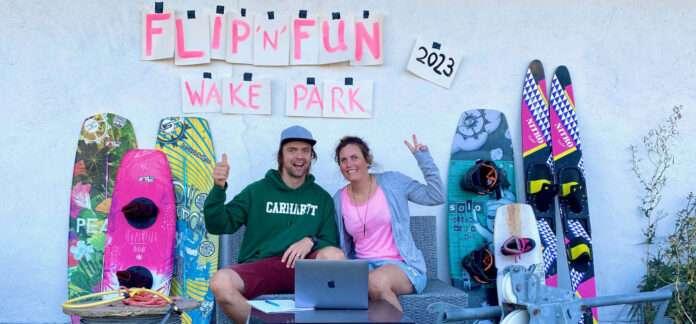 De bygger gemenskap. Henning och Maria Jorlén bygger wakeparken Flip n Fun