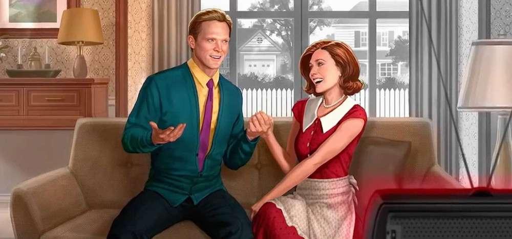 Serien WandaVision på Disney +.